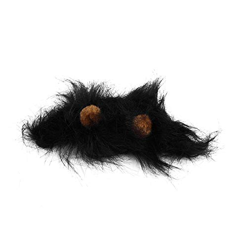 (ACROPOIS Lovely Pet Costume Lions Mane Wig for Cat Halloween Christmas Party Dress Up with Ear Pet Apparel Cat Fancy Dress)