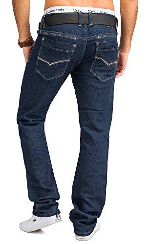 Jeans JoggJeans Backyard Freestar ID1242 hommes Slim Fit (de jambe droite) Dunkelblau