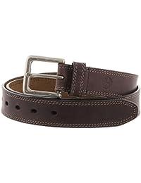 Timberland uomini 35mm Boot cintura in pelle marrone scuro 32 13ef4e9ed01
