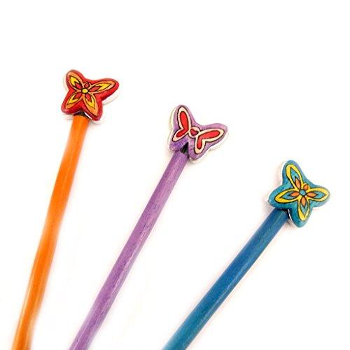 Les Trésors De Lily [L5037] - Set von 3 pins bun 'Papillons'