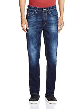 U.S.Polo.Assn. Men's Slim Tapered Jeans (8907259410463_USJN0856_38_Blue)