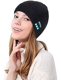 Anmain Cappello Musica Bluetooth Hat Invernali Unisex Coordinato Invernale  Berretto Donna Invernale Tumblr Pelliccia Berretti Cappellini 3ae9eaad6289