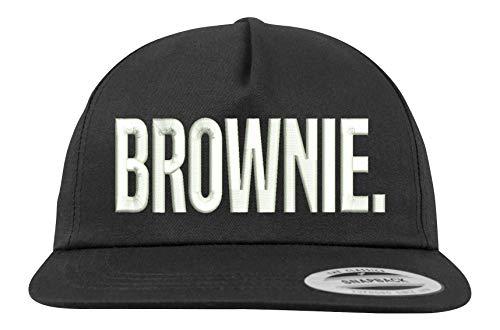 Youth Designz Baseball Kappe Snapback Cap Modell Brownie, Schwarz