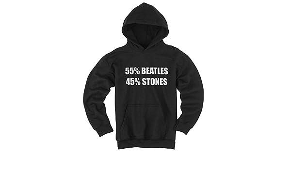 Beatlemania scritta Rock divertente Stones N Felpa Musica Pop Inglese