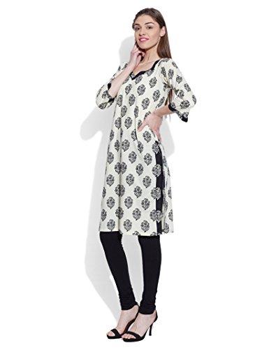 KOKOM - Camicia - Maniche a 3/4 -  donna white and black