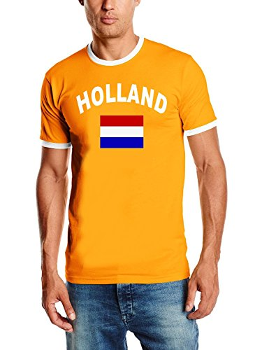 Holland T-Shirt Ringer Orange, Gr.XL