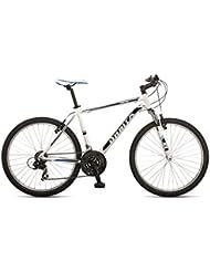 """Orbita SPRINTLINE 26"""" - Bicicleta BTT de montaña para hombre, 21 velocidades, cuadro 19'' aluminio, frenos V-Brake, blanco, (180cm - 190cm)"""