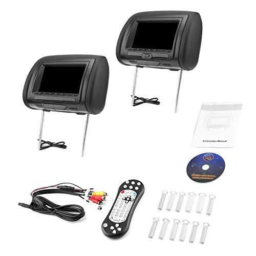 Heaviesk 7-Zoll-Auto- / USB- / HDMI-Auto-Kopfstützen-Monitore mit internen IR-Sendern Lautsprechern Videospielen FM-Transmitter