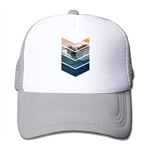 Imagen de rainny sunrise surfer unisex trucker hat mesh cap with adjustable snapback strap black