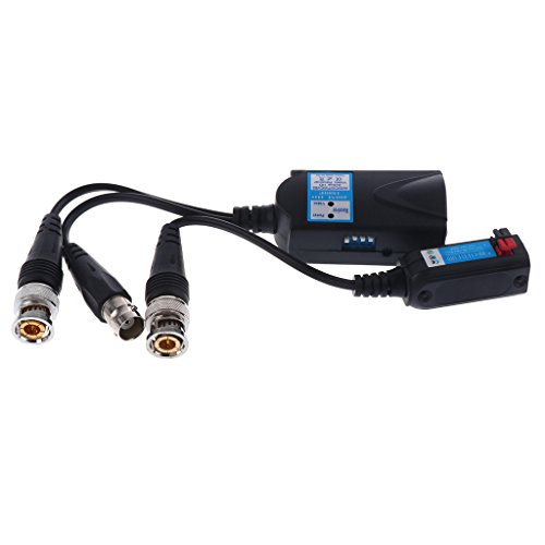 Sharplace 1 Stück Aktiver Audioempfänger mit Video Balun Transceiver DC12V Power Video Balun Hub