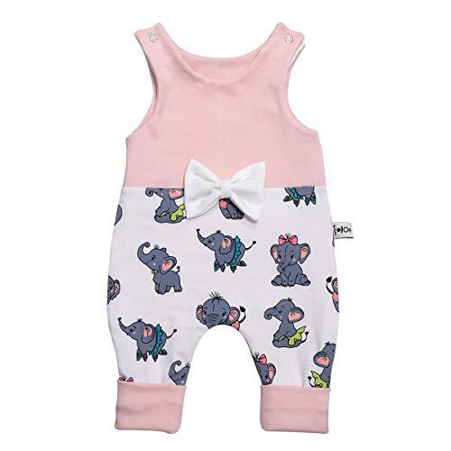 Pelele para bebé, diseño de Elefante, Color Rosa, Lazo (Blanco), Pelele para...