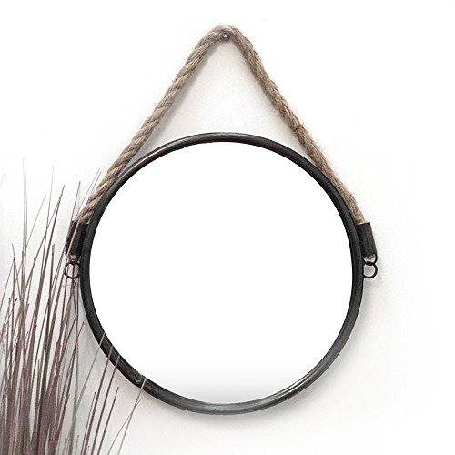 Ardisle rund Nautisches Port Loch Seil Badezimmer Rasier Kosmetik Wandspiegel groß 34cm (Spiegel Sunburst Holz)