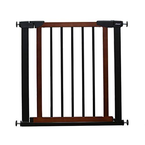 SuRose Holz extra breite Baby Tore für Treppen Türen, Wall Protector Black Pet Gate mit Katze/Hund Tür, 75-173cm (Größe: Breite 89-96cm) -