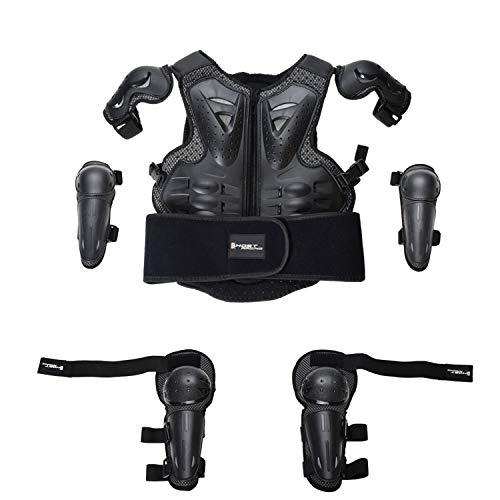 HBRT Kinder Motorrad Rüstung, Kinder Fahrrad Schutzkleidung Jacken Anzug Motorrad Off-Road-Rennen Eltern-Kind-Sport Sicherheit gepanzerte Schutz - Motorrad Off-road Jacke