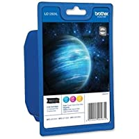 Brother Inkjet Cartridge LC1280XL Page Life 1200pp 3 Colour Ref LC1280XLRBWBP [Pack 3]