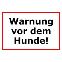 30x20cm und 45x30cm Schild Achtung Freilaufender Hund Warnschild Hinweisschild Vorsicht bissiger Hund Bohrl/öcher 15x20cm Aufkleber Hartschaum Aluverbund -S00038C