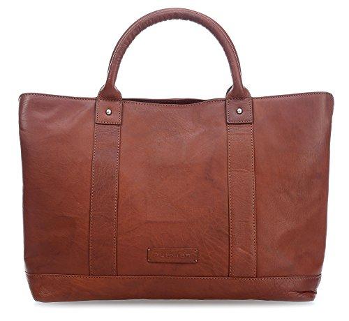 Plevier 600er Serie borsa a mano pelle 41 cm compartimenti portatile cognac, braun