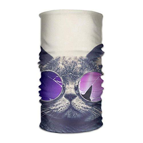 Space Sunglasses British Shorthair Cat Headwrap Unisex Headwear Headband Neck Scarf Elastic Hairband Magic Head Scarf Bandana Retro Headdress Face Mask Neck Gaiter