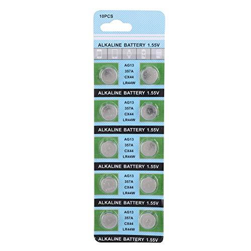 BTIHCEUOT 10er Pack Knopfzelle Knopfzellen LR44 AG13 357A S76E für Uhr 1,55V