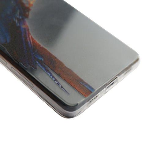 Voguecase® Pour Apple iPhone 5C, Ultra-minces TPU Silicone Shell Housse Coque Étui Case Cover (plume grise)+ Gratuit stylet l'écran aléatoire universelle perroquet