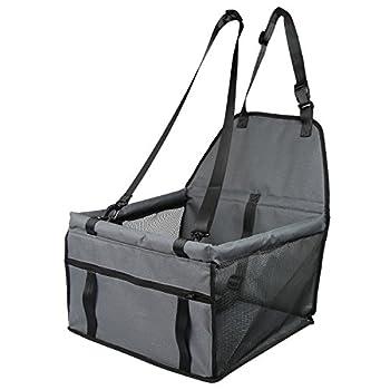 Siège d'appoint de voiture pour chats de chats, housse de siège imperméable respirante avec laisse de sécurité, petit sac de transporteur de voiture de voyage de chiot de chien par Zellar