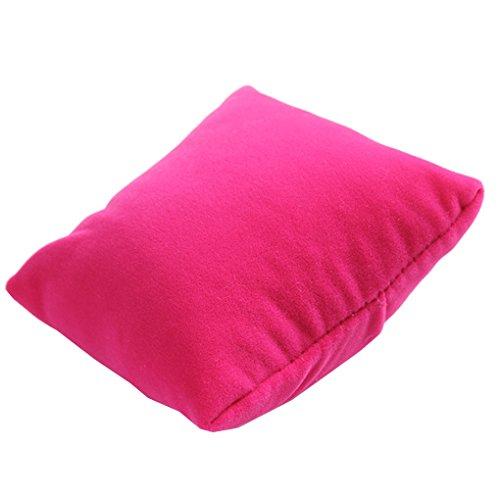 Demino Bijoux Velvet Coussin Oreiller Bracelet Montre-Bracelet Porte d'affichage Showcase Coffret Pillow Rose Rouge