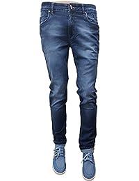 Pure Cotton Lycra Slim Fit Denim Jeans For Men. Mid Rise