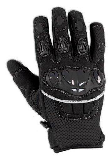 A de Pro Guantes textil Moto knoechel–Verano Racing Cross Quad Negro XS