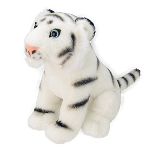 Wild Planet All About Nature-26 cm Tigre Blanc à la Main, Peluche réaliste, Multicolore (K8230