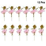 Toyvian Topper para Cupcakes Adornos de Pastel de Ballet Dancing Girl Decoración para Tartas Fiesta Temática y Tarta de Cumpleaños 12 Piezas