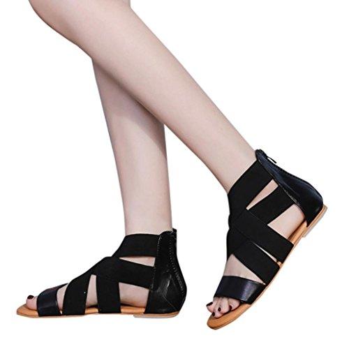 Beikoard -30% promozione della moda sandali donna taco scarpe da donna sandali da spiaggia (nero, 43)
