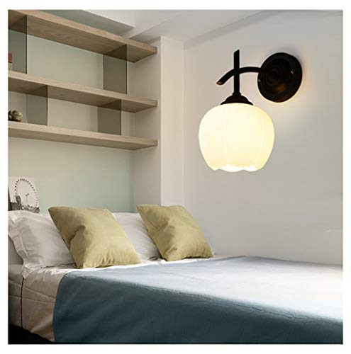 Thor-yan lampada da parete per soggiorno da camera da letto country lampada da parete per comodino nordic corridoio lampada da parete a testa singola semplice led [classe energetica a + +] -51561lampa