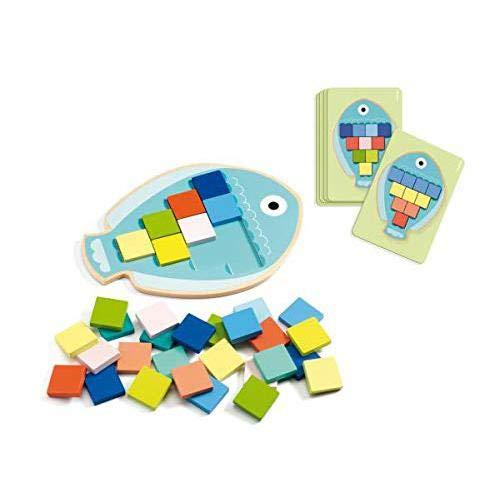 Djeco Juego Educativo Mosaico MOSA Color (31665), Multicolor (1)