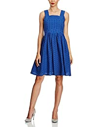 UTTAM BOUTIQUE Dres Day Broderie Mix Dress Mtss15122 BLUE DE 38 (UK 12)