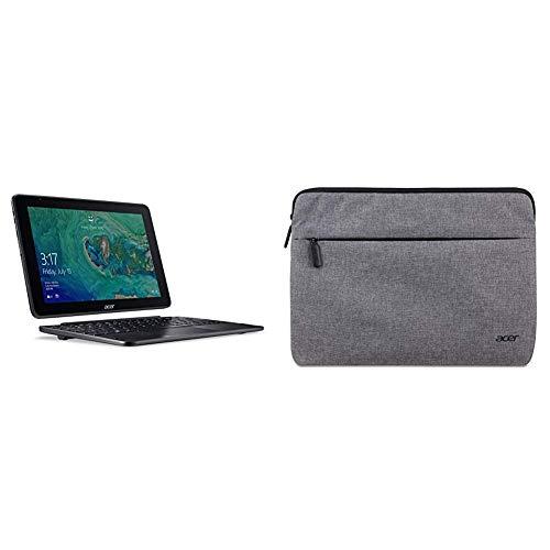 """Acer One 10 S1003-15DN Notebook 2 in 1 con Processore Intel Atom x5-Z8300, RAM 4 GB, eMMC 64 GB, Display 10.1"""" Multi-Touch WXGA LCD, Windows 10 Home, Nero + Custodia Protettiva per Notebook da 11.6"""""""