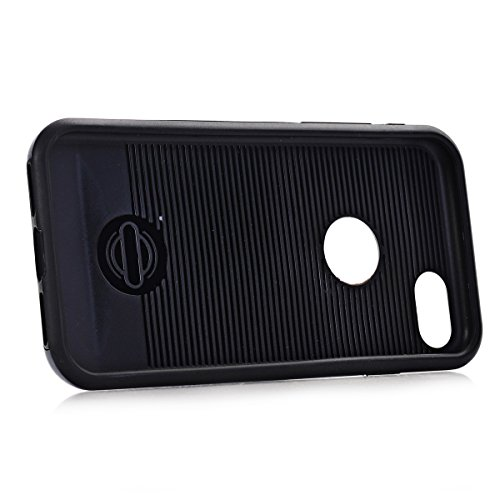 """MOONCASE iPhone 7 Coque, Dual Layer Hybrid Brushed Armure Defender Housse Slim Fit Durable Anti-choc Protection Étuis Case pour iPhone 7 4.7"""" Hotpink Bleu Ciel"""