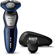 Philips AquaTouch S5600 - Afeitadora (Batería / Corriente, Ión de litio, Rotación, Negro, Azul, Plata, LED, Ergonomic)