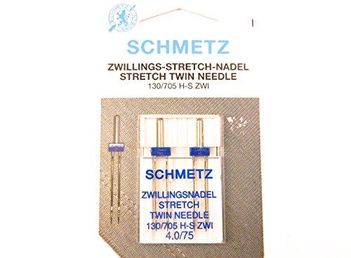 Schmetz Stretch Zwilling Aguja doble 130/705 4