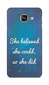 AMEZ she believed she could so she did Back Cover For Samsung Galaxy A3 (2016 EDITION)