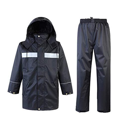 Sicherheitsweste Wasserdichte Regenjacke und Hose, reflektierender Sicherheits-Regenmantel-mit Kapuze Poncho-Anzug für Arbeit Tätigkeit im Freien Reflektierende Schutzanzüge ( Größe : Medium ) -