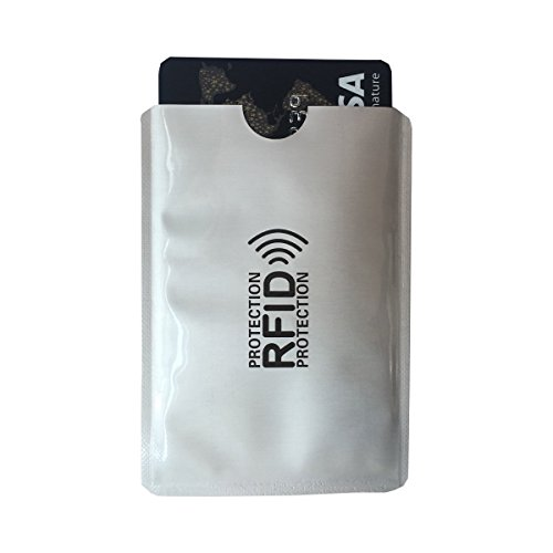 NFC Blocking RFID Schutzhülle, 10 Kreditkarten & 4 Reisepass Schutz. Tüv Geprüfte Reißfest und wasserdicht Etui Passen für Kreditkarte, Personalauswei, EC-Karte, Reisepass, Bankkarte, Ausweis.