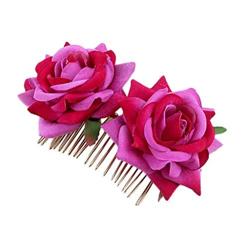 Hochzeiten, blauem Vintage-Haarschmuck für Bräute und Brautjungfern Kopfschmuck/Haarschmuck, Blumenmotiv Damen Künstliche Blume Handarbeit DIY Braut Hochzeit Haarkamm Haarschmuck ()