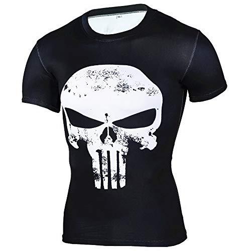 HOOLAZA Avengers Super Heroes Männer Kompression T-Shirt Punisher Tops Fitness