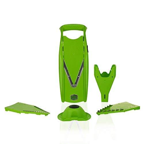 Börner V5 Mandoline Starter Set grün, Gemüseschneider zur Rohkostverarbeitung - Borner Klingen