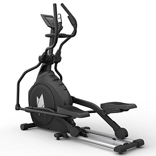 skandika Crosstrainer CardioCross Carbon Pro SF-3200, 23,5 kg Schwungmasse, wartungsarmes Bremssytem über Magnettechnologie, Transportrollen, Kalorienverbrauch, Zeit und Pulsmessung (schwarz)