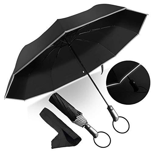 Paraguas Compacto y Resistente al Viento, Paraguas Plegable con Apertura y Cierre...