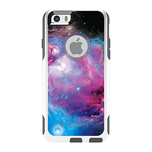 DistinctInk Fall für iPhone 6 / 6S (Not Plus) Otterbox Commuter Lila Blau Schwarz Orion-Nebel auf weiß Fall - Iphone Blau Otterbox-fälle 6