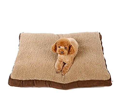 DAN Lit orthopédique pour chien à mémoire de forme, housse amovible en velours avec doublure imperméable , 90*70*12cm