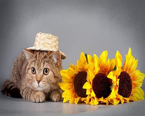 Katze Und Der Hut Zeichen - ZSFFSZ Puzzle 1000 Teile Die Katze