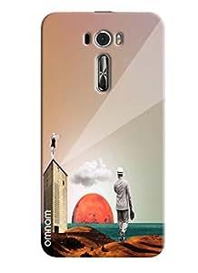 Omnam Old Age Rich Man Effect Printed Designer Back Cover Case For Asus Zenfone 2 ZE601KL